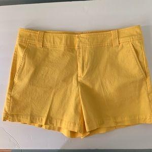 New York & Company Yellow Midi Shorts, 6